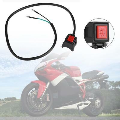 12V 7/8in 22mm Motorcycle Handlebar Push Button Start Horn ON OFF Kill Switch
