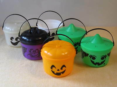 Set of 6 McDonald's BOO Buckets with lids