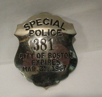 1967 Special Police Badge City Of Boston Police Badge