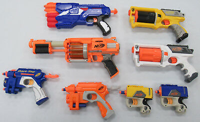Lot of 8 Nerf Guns Working w/ Darts N-Strike & Dart Tag PREOWNED GOOD CONDITION