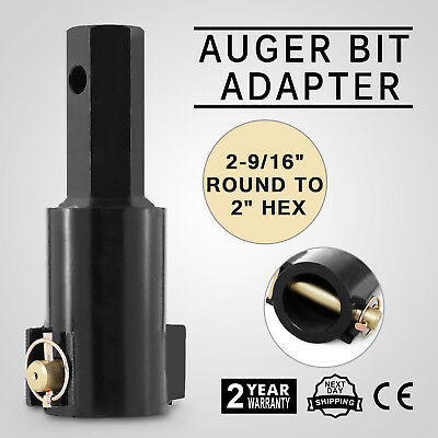"""Drill Auger Bits Adapter 2"""" Hexagon Mini Skid Steer Round Connectors Hot Updated"""