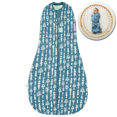ErgoPouch 1.0 TOG Baby Cocoon Organic Swaddle Bag 3-12m w/ Room Thermometer BL