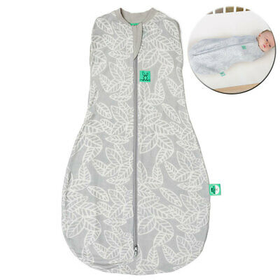 ErgoPouch 0.2 TOG Baby Cocoon Organic Swaddle Bag 3-12m w/ Room Thermometer GRY