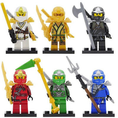 6Pcs Ninjago Jay Kai Cole Lloyd Nya Mini Figures Toys Building Blocks