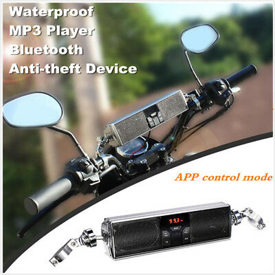 Waterproof Bluetooth Motorcycle Audio Radio Speakers System MP3 Radio USB ATV