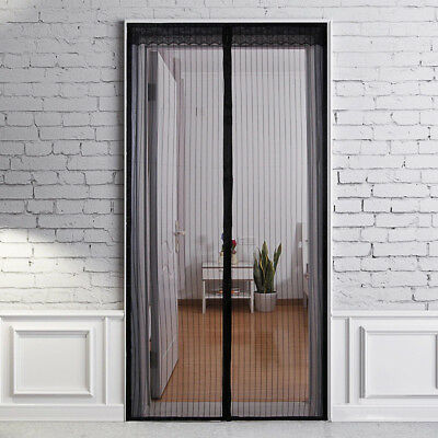 Magnetic Door Window Fly Screen Magic Magna Mosquito Bug Soft Net Black Curtain