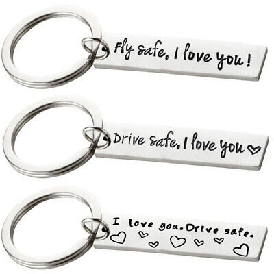 Drive safe I love you Fly Safe Key Ring Keychain Car Keyring Pendant Couple Gift