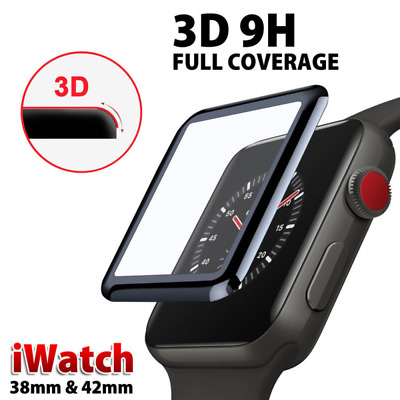3D Full Cover Temper Glass Screen Protector For Apple Watch iWatch Series 4 3 2