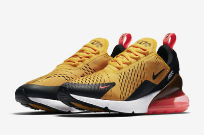 Nike Air Max 270 Tiger Size 10-12.5 Black Gold Yellow Hot Punch White AH8050-004