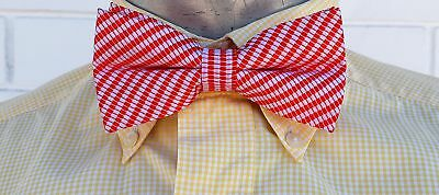 1960's Red pinstriped Bow tie, USA import.
