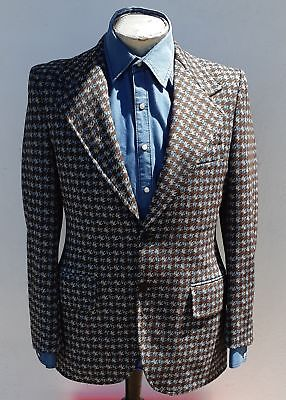 Men's Original 1970's Checked sports-coat, size L USA Import.
