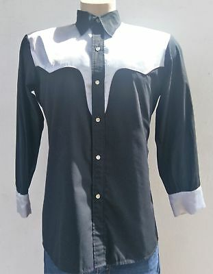 Western Shirt 1970's by 'Roger', satin sholders and cuffs, size L-XL.