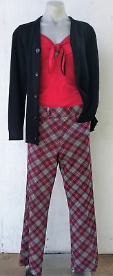 Checked hipster 'golf' pants, USA, size 10