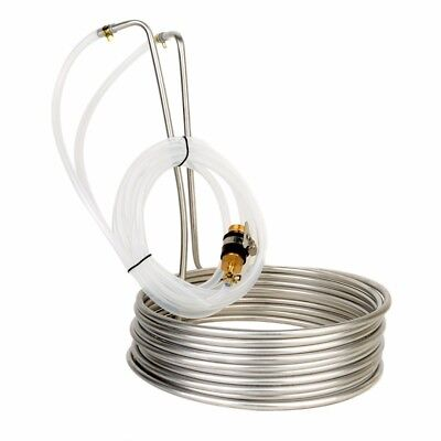 Stainless Steel Immersion Wort Chiller Cooler Elevated Coils Home Brew Beer 8M
