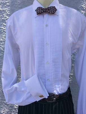 Men's White dinner shirt, by 'Custom Clothiers & Tailors',USA, size XXL.