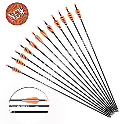 """12X 16"""" Fiberglass Arrows Crossbow Bolts Flat Nock for Outdoor Bow Hunting"""