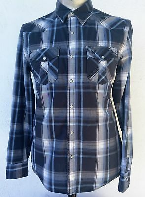 Men's Western Shirt, blue check by 'AE Outfitters' USA size M