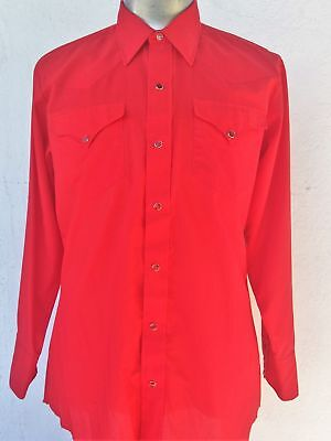 "Men's Red Western shirt by 'HBARC"" California Ranch Wear', USA size"