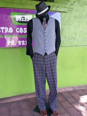 """70's grey checked flares by 'Farah' 33""""."""