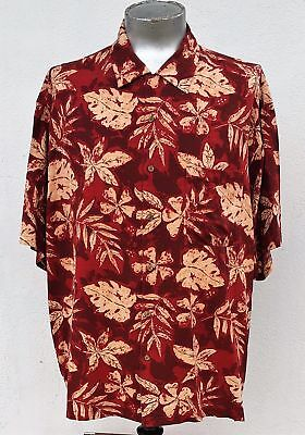 Hawaiian silk shirt, circa 1980's, USA, size 3XL.