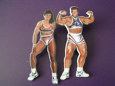 A Pair of Vintage original LWT GLADIATORS acrylic badges  from 1993