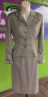 Women's Silk Suit 2 Pieces 1940's by Betty Rose