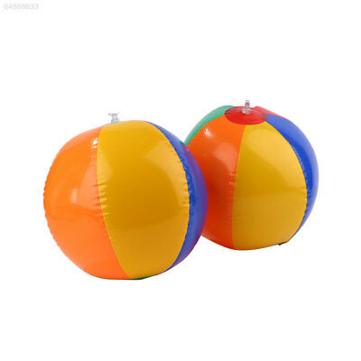 5CA3 Outdoor Sport Colors Inflatable Balloons Beach Ball Swim Fun Water Toy