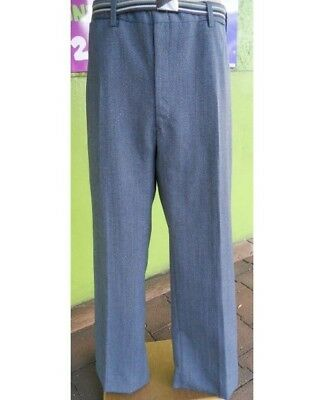 1960's  Mid-blue pinstriped Wool Flares.