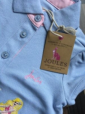 💖Baby Girls**Joules** Unicorn Top/Polo Shirt**12 Months**Bnwt**