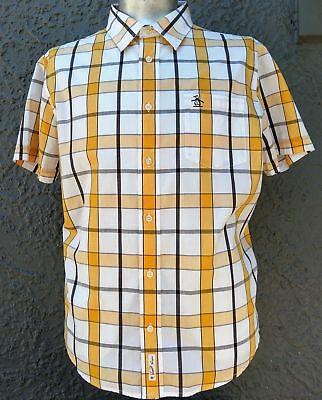 Men's 1960's 'Penguin' brand checked shirt from USA, size XXL