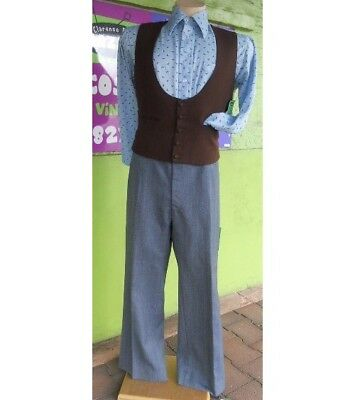 60's wool flat front pocket flares.