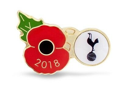 POPPY PIN BADGE: Official Tottenham Spurs Remembrance Day Armistice 2018 Edition