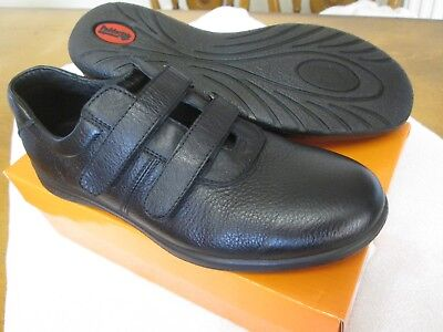 Ladies Padders Comfyy Black Soft Leather Adjustable Twin Strap Shoes Size Uk 6