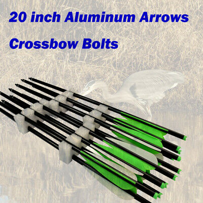 12X 20 inch Crossbow Bolts Aluminum Arrow for Archery Outdoor Bow Target Hunting