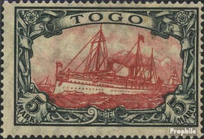Togo (German. Colony) 23I A with hinge 1919 Ship Imperial Yacht Hohenzollern