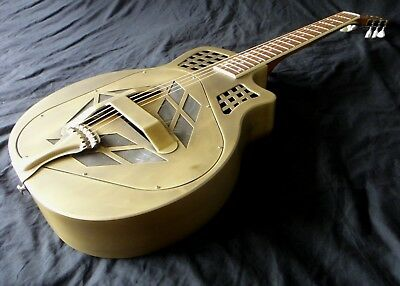 Tricone Tri-Cone Resonator Guitar - 'Antique' Brass