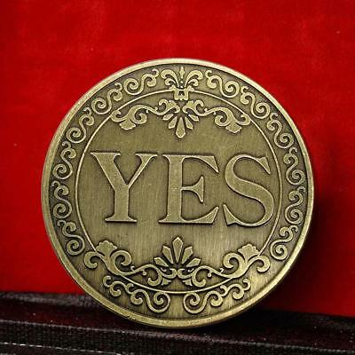 YES Commemorative Round Coins Copper Plated Souvenir Coins