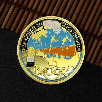 Gold Titanic Commemorative Round Coins Bitcoin Gold Plated Coins