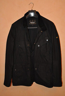 Barbour International Rake SS18 Men's Black Regular Fit Wax Jacket Size XL MINT