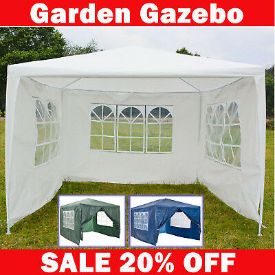 Gazebos With Sides Gazeebo Party Tent Events Shelters Waterproof Marquee Gazibo
