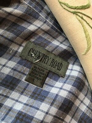 VIntage Country Road 100% Linen  Shirt made In Australia L- XL