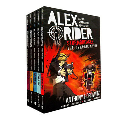 Alex Rider Collection By Anthony Horowitz 5 Books Set Graphic Novels Scorpia New