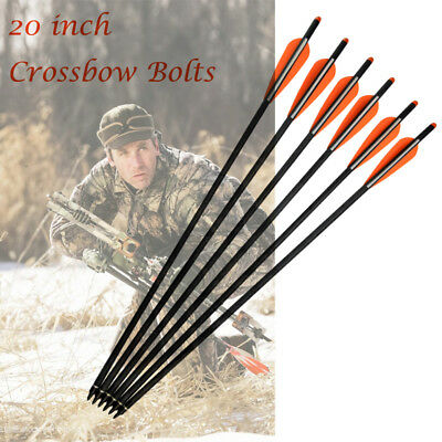 20 inch Carbon Arrows Crossbow Bolts for Archery Outdoor Bow Hunting 12 pcs