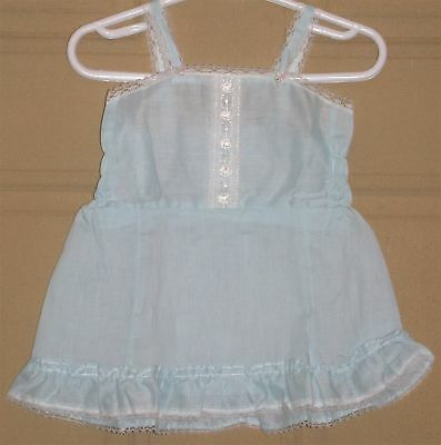 Queensbury Toddler's Lace Trimmed Ruffled Slip ~ Girl's Size 4T ~ Blue NEW