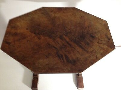 A EARLY 19th CENTURY FLAMED MAHOGANY SIDE TABLE C1820s