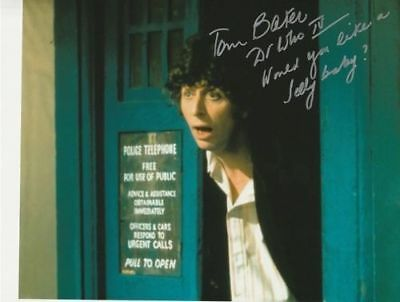 Tom Baker In Person signed photograph + RARE QUOTE - Doctor Who - IP65