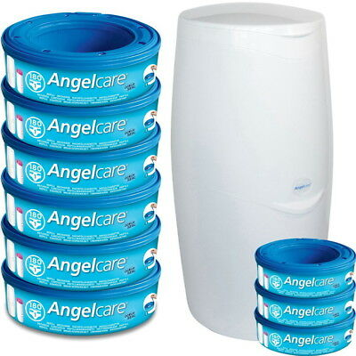 Angelcare Nappy Disposal System & Angelcare Refill Cassettes, Baby Nappy Sacks