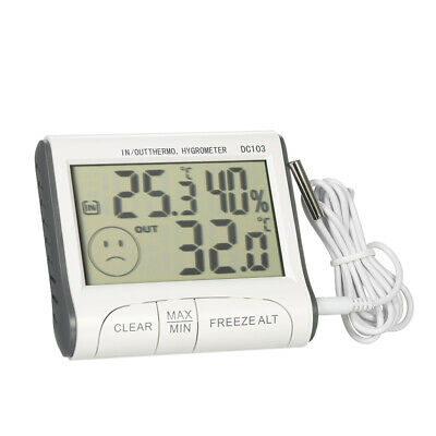 Indoor Outdoor Humidity Hygrometer Temperature Thermometer External Sensor P2K6