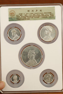 complete set qing dynasty emperor guangxu rupees in sichuan Coin