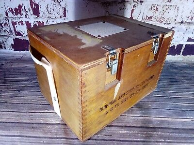 Vintage Old Military Navy Naval Stores Storage Box Special Contents Ammunition